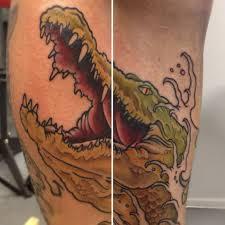 traditional alligator tattoo crocodile skin tattoo alligator