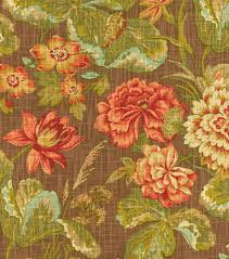 upholstery fabric waverly sonnet sublime vintage orange floral