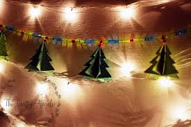 Paper Christmas Lights Paper Christmas Tree Garland Tutorial