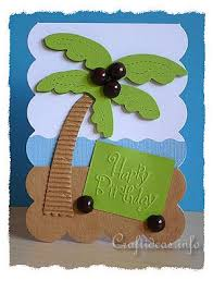 birthday card to craft for summer palm tree birthday card