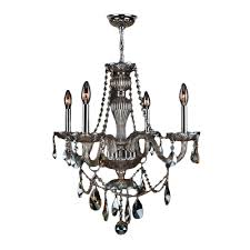 Chrome Crystal Chandelier by Worldwide Lighting Aramis Collection 5 Light Chrome Crystal