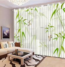 Vintage Green Curtains Fashion Vintage Bedroom Curtains Green Bamboo Curtains For Living