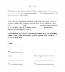 renewal letter template contract non renewal download zanews info