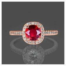 ruby rings sale images Limited time sale 1 25 carat red ruby and diamond engagement ring jpg