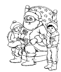 kids santa christmas coloring pages printable christmas