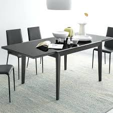 Black Glass Extending Dining Table Black Extendable Dining Table Extending Dining Table Black
