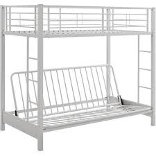 Walker Edison Twin Over Futon Bunk Bed White BBTOFWH Best Buy - Walker edison twin over full bunk bed