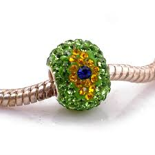sterling silver bracelet beads charms images Brazil flag crystal jewelry bracelet beads for women jpg