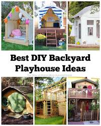 Backyard Playhouse Ideas Best Diy Backyard Playhouse Ideas The Stay At Home Survival