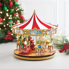 very merry carousel indoor christmas decor brylanehome