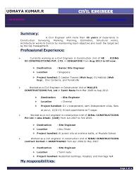 Civil Engineering Resumes Civil Engineer Resume 24 2 16