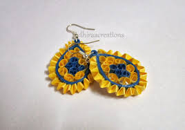 earring design adhiraacreations quilling earring designs