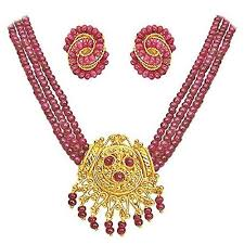 ruby bead necklace images Ruby beads necklace set necklace set raghavendra pearls jpg