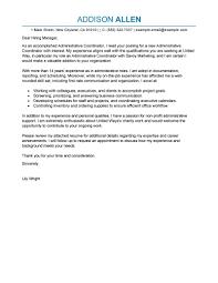 Administrative Officer Sample Resume Brilliant Ideas Of Sample Cover Letter For Administration Officer
