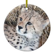 cheetah cub ornaments keepsake ornaments zazzle