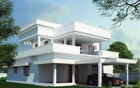architecture 3d minimalist house plan design with double garage