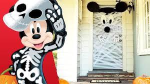 mickey halloween door decor disney family youtube