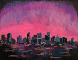 paint and sip city skyline