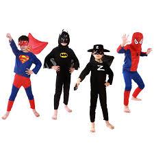 Batman Kids Halloween Costume Childs Superman Batman Zorro Spiderman Halloween Costume Kids