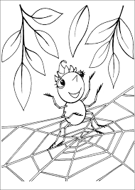 spider coloring animals town animals color sheet spider