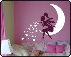 chambre fee princess bedroom wall decal lovely on moon wall