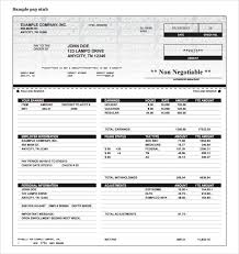 free create pay stub template