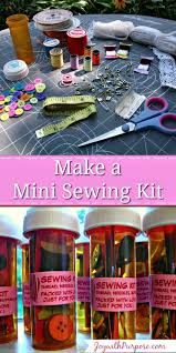 mini sewing kits you can make with purpose