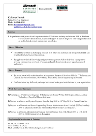 windows system administrator resume format inspirational gallery