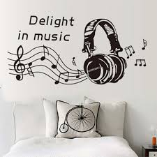 music note home decor delight in music notes play write wall sticker removable home