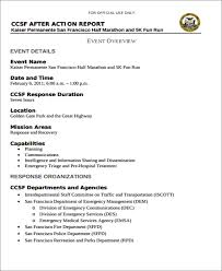 after event report template 7 report templates free sle exle format
