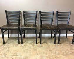 Wood And Metal Dining Chairs Metal Dining Chairs Etsy
