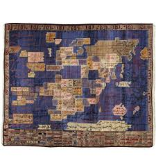 vintage afghan map rug map rug asian rugs and vintage