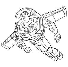 buzz lightyear coloring pages flying coloringstar