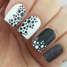 55 most stylish polka dots nail art design ideas