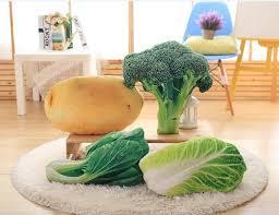 siege pomme de 50 cm creative 3d simulation légumes en peluche coussin oreiller de