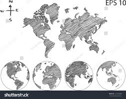 royalty free earth globe with world map detail u2026 112504508 stock