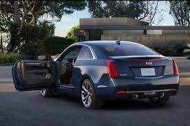 ats cadillac coupe 2015 cadillac ats coupe rear side exterior 453 cars performance