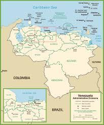 Southern Caribbean Map by Venezuela Maps Maps Of Venezuela