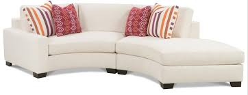 Curved Sofa Sectional by Fenwick Two Piece Curved Sectional With Laf Chaise By Rowe Home