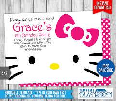 hello kitty birthday invitation by templatemansion on deviantart