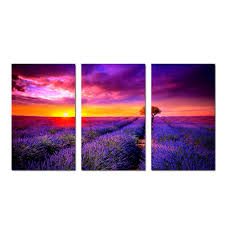 well design provence lavender paintings canvas printing vintage