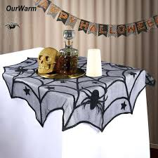 halloween tablecloths midnight black spider web lace tablecloth