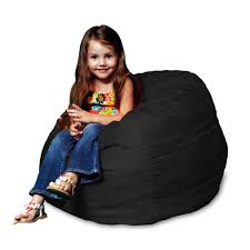 amazon com chill sack kid u0027s memory foam bean bag chair black