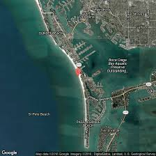Florida Beach Map by Oceanfront Hotels In St Pete Beach Florida Usa Today