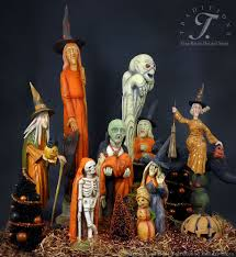 halloween figurines lori mitchell halloween folk artists traditions