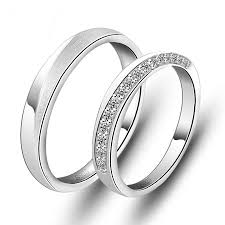 his and hers wedding bands couples matching wedding rings sterling silver cubic zirconia his