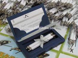 wedding invitations in a box luxury paper scroll wedding invitation card with decorative box