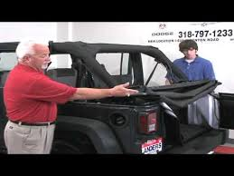 jeep soft top open jeep wrangler soft top instructional video youtube