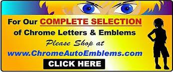 chrome emblems auto badges sport emblems automobile emblems