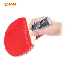 quality table tennis bats boer s5 quality table tennis racket pure wood pimples in rubber bat